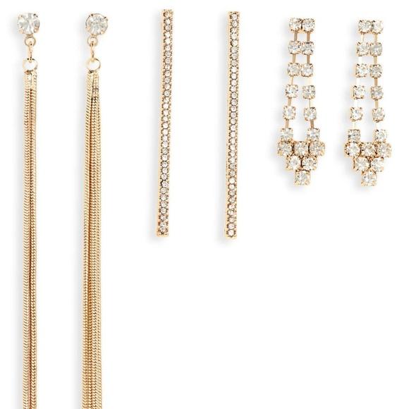 NEW! Nordstrom set of 3 Crystal Earrings